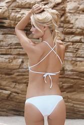 Angelsin Beyaz Tankini Bikini - Thumbnail