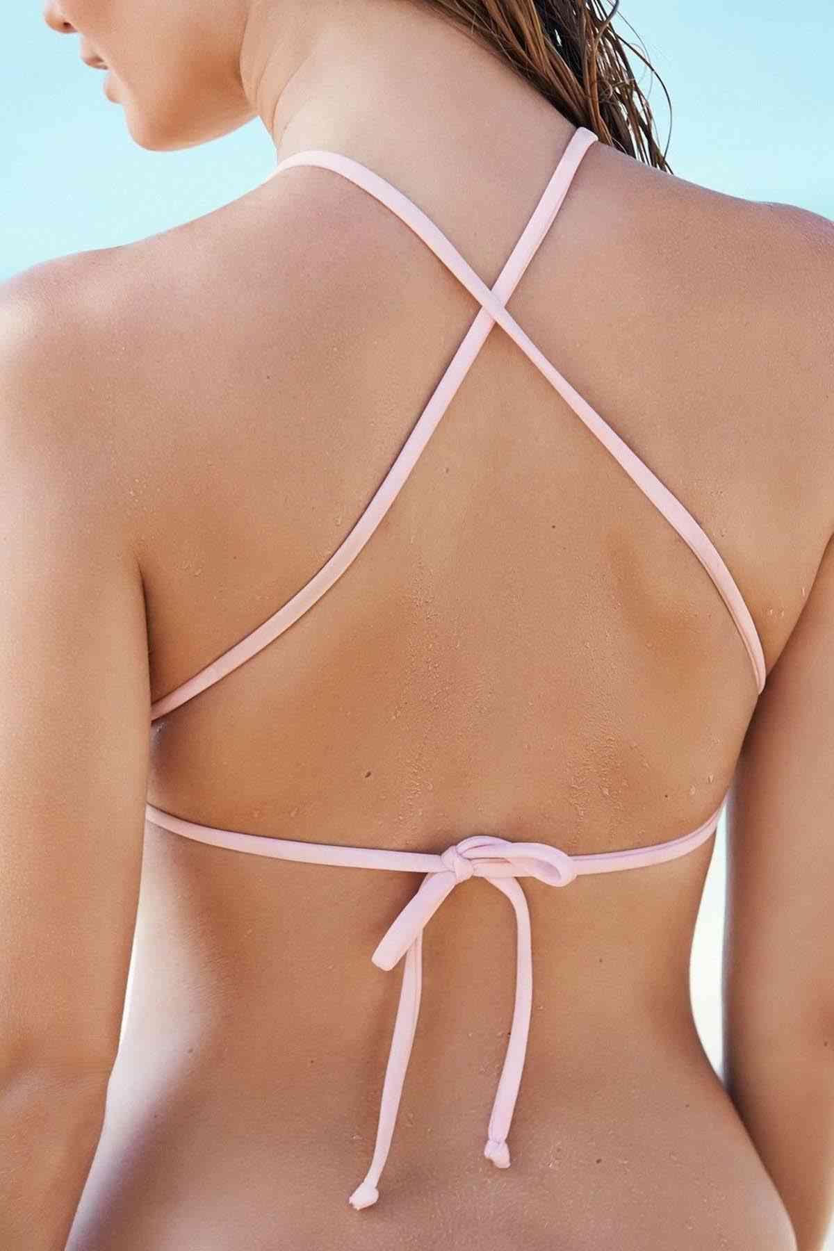 Angelsin Pembe Tankini Bikini Takım