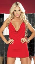 Merry See Özel Tasarım Kırmızı Mini Elbise - Thumbnail