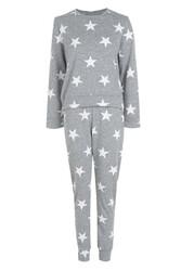 Merry See Penye Yıldızlı Eşofman Pijama Takım Çok Renkli - Thumbnail